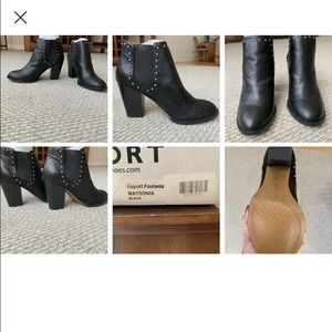 Report black studded booties